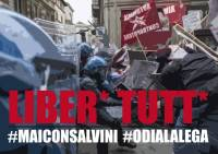 6 arrests in Turin for the march against Matteo Salvini
